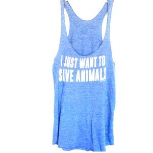 I Just Want To Save Animals Tank Top